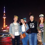 with my Chinese friends on the Bund in Shanghai, Shanghai, China