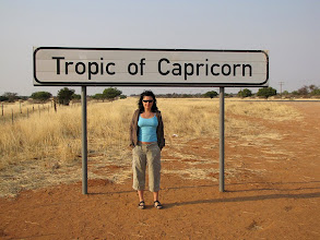 Photo: Kamila at the Tropic of Capricorn