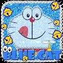 Kawaii Blue Cat Diamond Theme icon