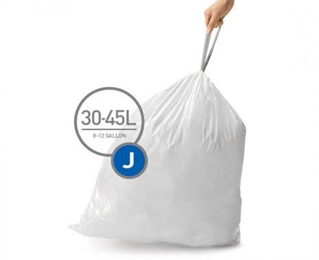 Avfallspåsar till Simplehuman 5 x pack med 20 påsar(100-påsar)  TYP H