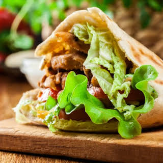 Chicago Style Gyros Sandwich.