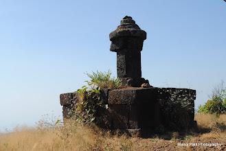 Photo: Ruins on top of Makrandgad....