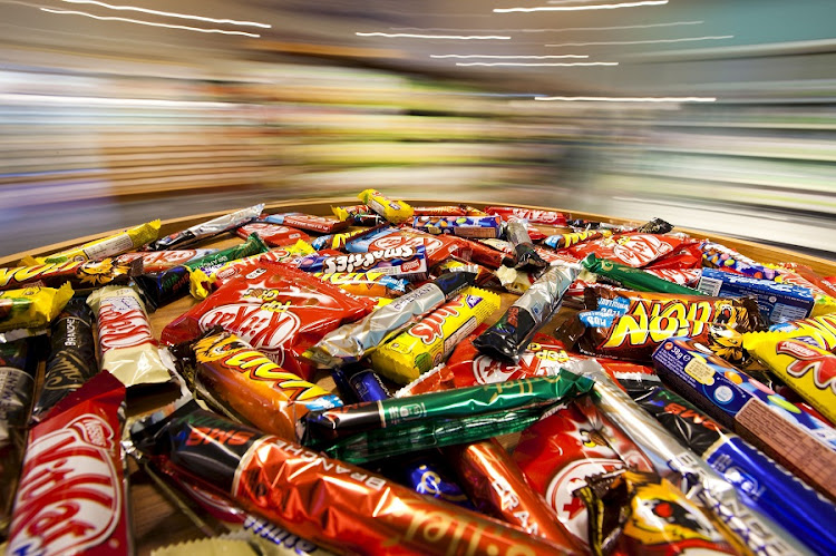 Different chocolate bars are seen in a shop at Nestlé headquarters in Vevey, Switzerland. Picture: REUTERS