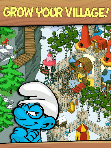 (APK) تحميل لالروبوت / PC Smurfs' Village ألعاب screenshot