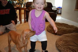 Photo: Akela likes the fringe on her shirt