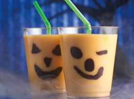 Chilling Jack-o'-lantern Smoothies Recipe