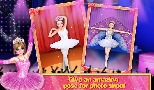 Beautiful Ballerina Girl Salon Stylish Dressup - náhled