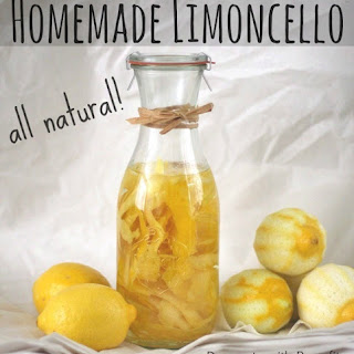 Healthier Homemade Limoncello (all natural!)