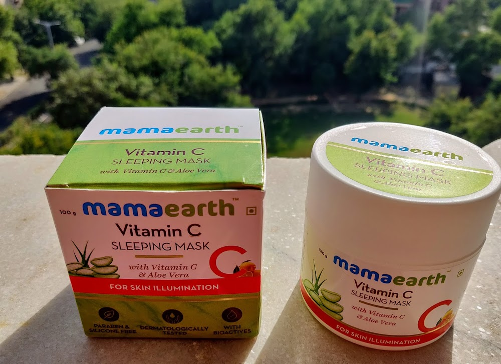 mamaearth vitamin c sleeping mask