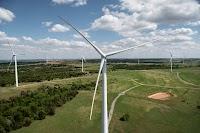 Wind farm in Minco, Oklahoma.