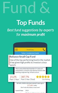 Mutual Fund Investment, SIP,  Save Tax - Fund Easy Capture d'écran
