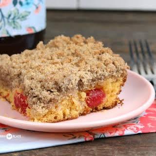 Cake Mix Cherry Crumb Cake.