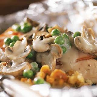 Foil-Pack Chicken & Mushrooms.