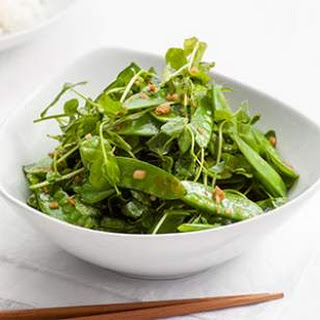 Garlic Stir-Fried Snow Peas & Pea Greens