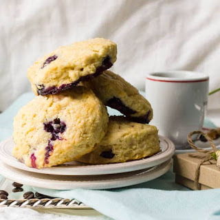 Cafe-Style Blueberry Cream Cheese Scones.
