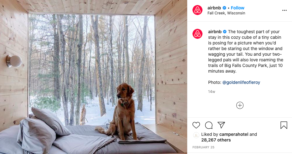 Example of user generated content from Airbnb