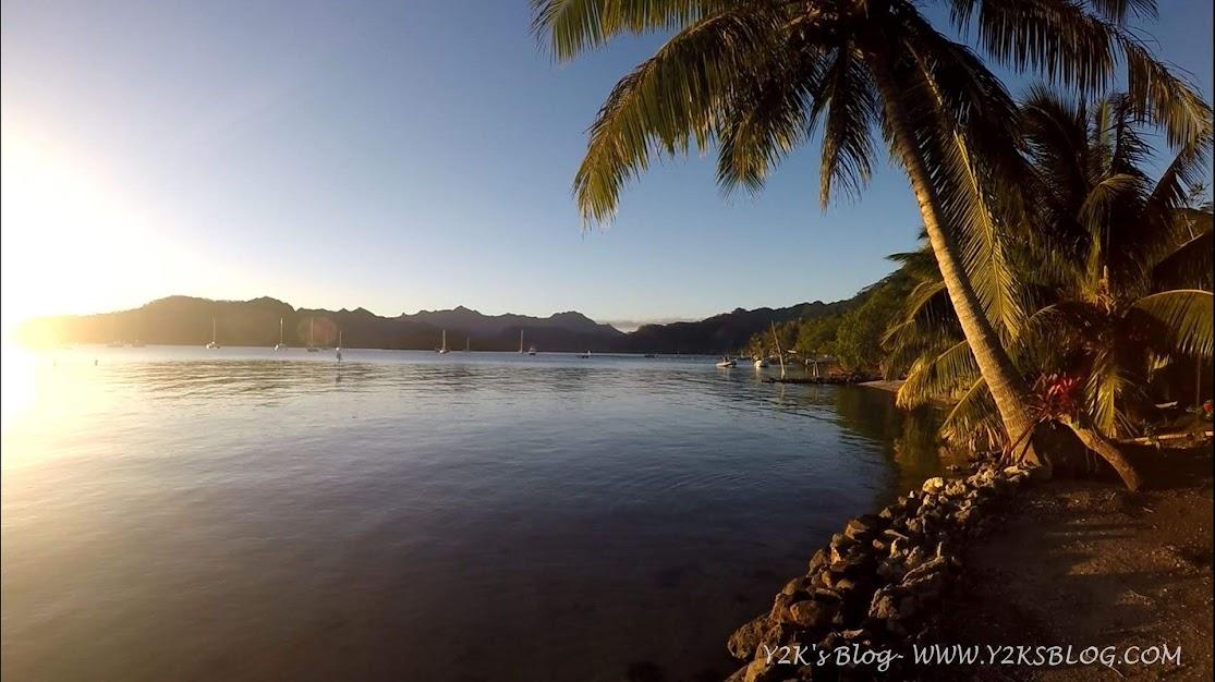 Ancoraggio nella baia di Toerauroa - Taha'a