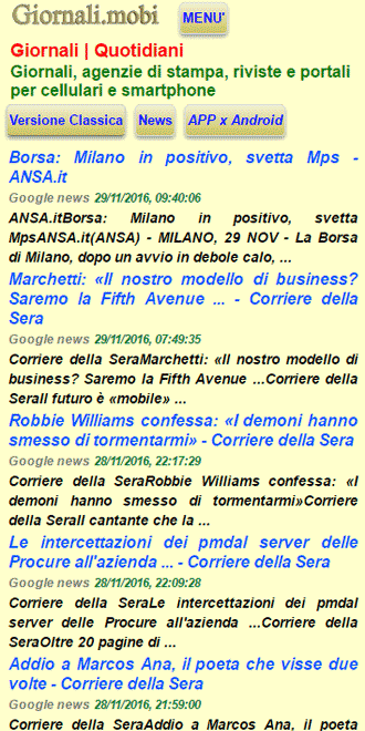 Giornali.mobi- screenshot