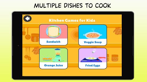 Kitchen Games - Fun Kids Cooking & Tasty Recipes 1.0 screenshots 8