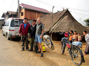 Photo: Day 300 - Rog, Lei and Lei's Brother in Village Where They Dropped Us