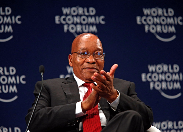President Jacob Zuma reacts while participating in a discussion at the World Economic Forum on Africa 2017 meeting in Durban. Picture: REUTERS/ROGAN WARD