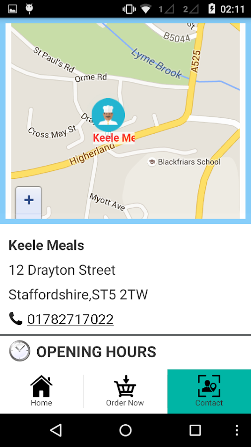 Keele Meals- screenshot