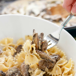 Portobello Mushroom Pasta with Cream Sauce.