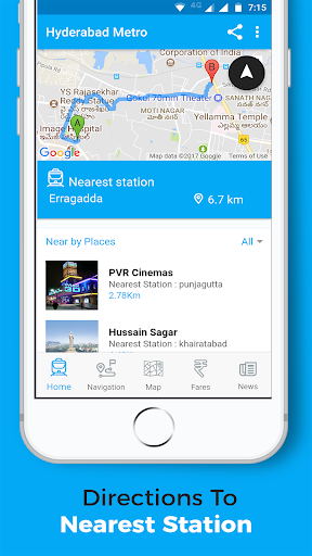 Hyderabad Metro Rail - Routes, Fares, Maps, Nearby for PC