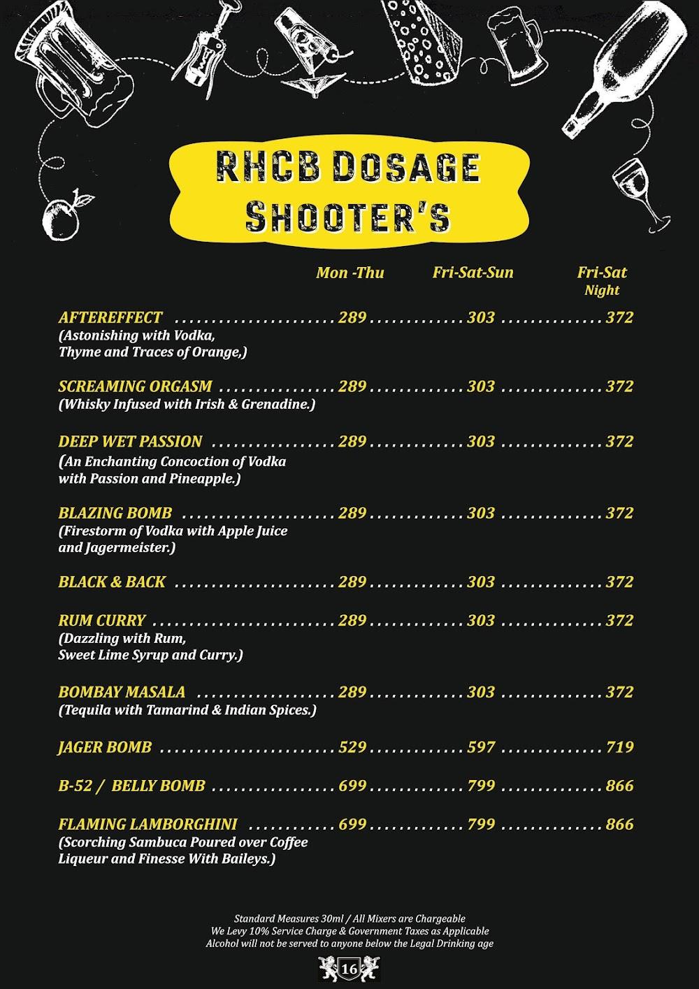 Road House Cafe Bar menu 15
