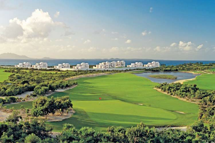 The scenic greens at the CuisinArt Golf Resort in Anguilla.