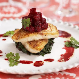 Gourmet Fish Fillets with Beetroot.
