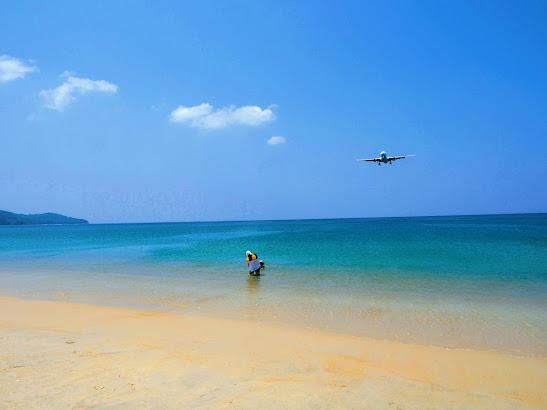 飛行機撮影ポイント@プーケット・マイカオビーチ