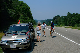Photo: Ein Routenabschnitt in Oklahoma. 120 Kilometer immer gerade aus