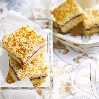Raspberry and Coconut Bars