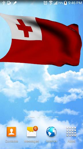 Tonga Flag 3D Free