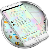 SMS Messages Holographic Theme