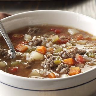 Beef Barley Lentil Soup.