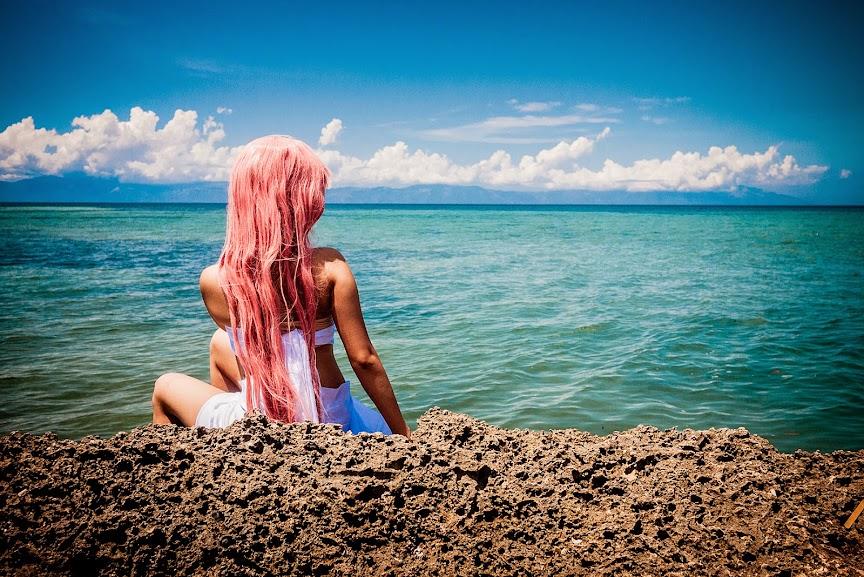 kusaribe hakaze cosplay zetsuen no tempest anime burot beach