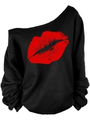 Lips printed shirt