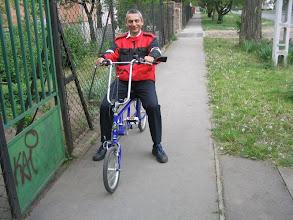 Photo: Az új kerékpáron szemből