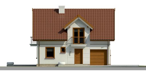 Dom przy Alabastrowej 23 - Elewacja przednia
