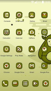 Cute Olive Green Theme - náhled