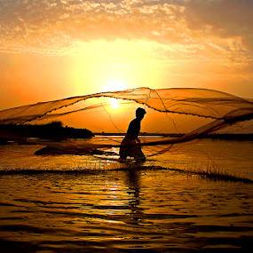 Fishing by Bob Khan - People Street & Candids (  )