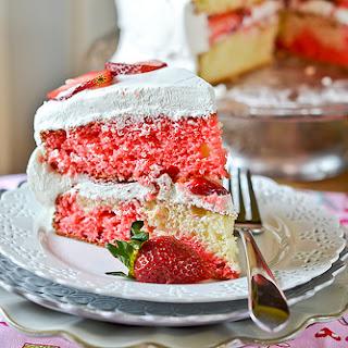 Strawberry-Swirl Cake.