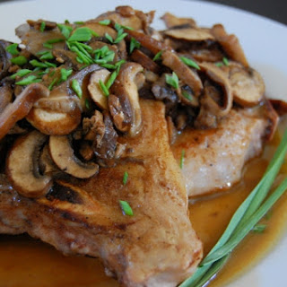 Sous Vide Pork Chops with Mixed Mushrooms