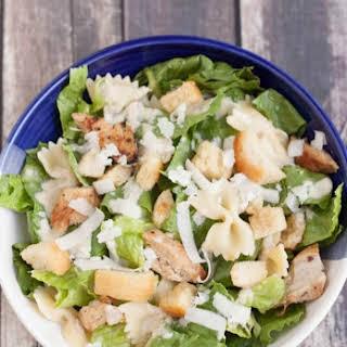 Delicious Chicken Caesar Pasta Salad.