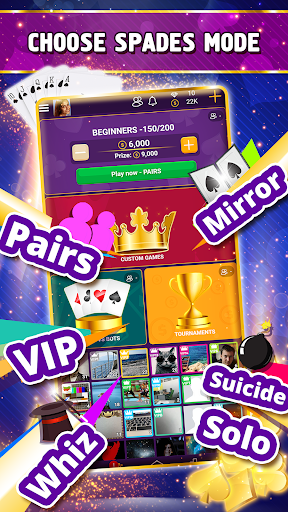 VIP Spades - Online Card Game 3.6.85 screenshots 1