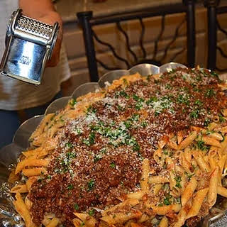 Pasta with Creamy Ragout Sauce.
