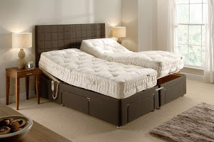Firm Linked Adjustable Bed in a bedroom