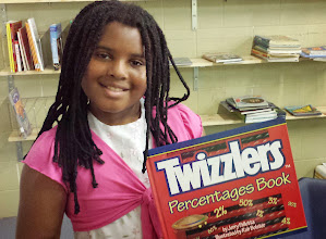 Photo: yes - I could be down with using Twizzlers to learn percentages. :-)  In the back we see the sorting beginning to happen